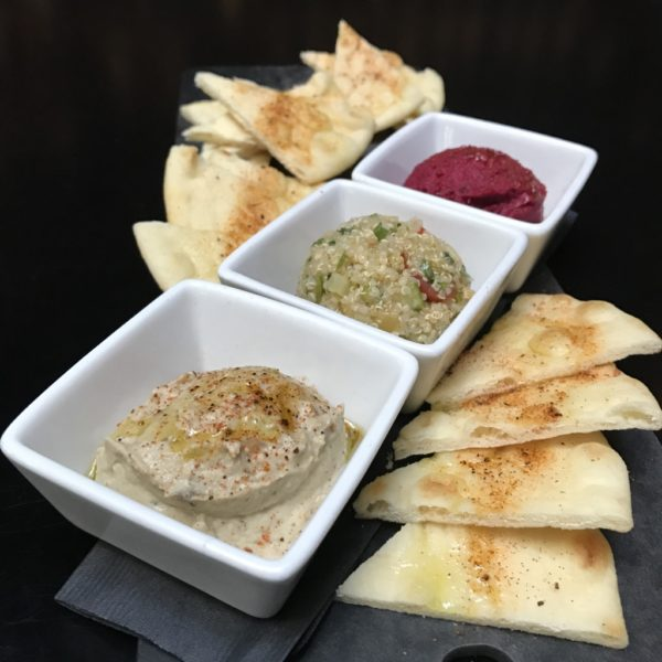 Butter Bean Hummus and Black Garlic Baba Ganoush